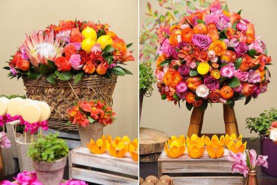 #Dicas Flores e frutas para decorar sua festa! make aos vinte -> Decorar Frutas Simples